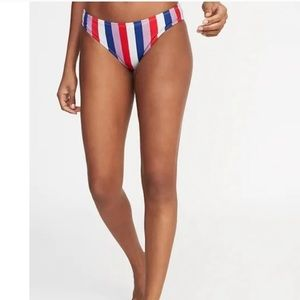 NWT Old Navy Multi Striped Low Rise Bikini Bottoms